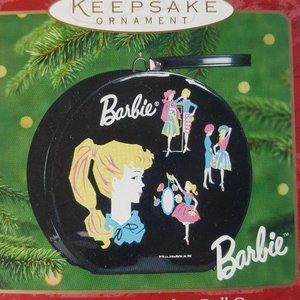 Hallmark 1962 Barbie Hatbox Ornament Opens Retired